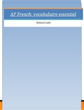 AP French topical vocabulary lists