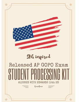 AP Government and Politics Exam Student Data Processing Kit