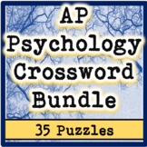 AP / General Psychology Crossword Bundle (35 Puzzles!)