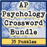 AP / General Psychology Crossword Bundle (35 Puzzles!)