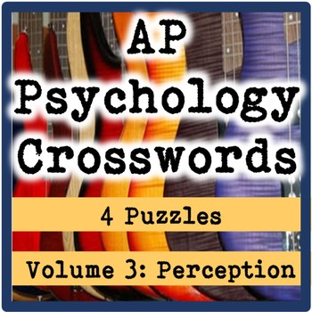 AP / General Psychology Crosswords Volume 3: Perception
