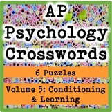 AP / General Psychology Crosswords Volume 5: Conditioning & Learning