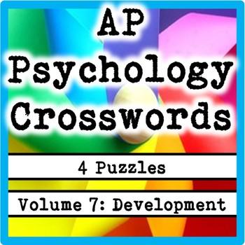 AP / General Psychology Crosswords Volume 7: Development