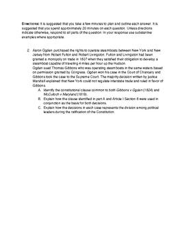 Ap Gov Scotus Comparison Practice Questions Ap English Language Tpt