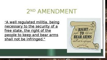 AP Government 2nd Amendment 17 slides  Power Point