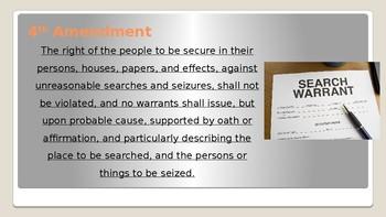 AP Government 4th Amendment 13 slides  Power Point