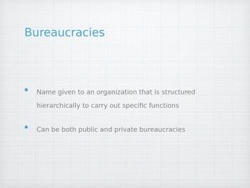 AP Government Bureaucracy Unit PowerPoint