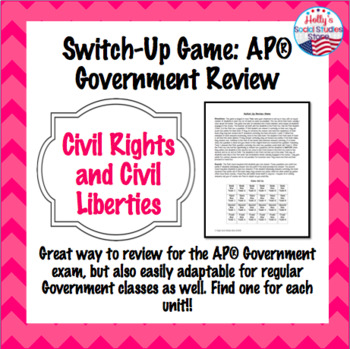 Civil Rights and Civil Liberties Switch-Up Review Game: AP® Government