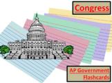 AP Government - Congress, Best Flash Card Assignment/Games