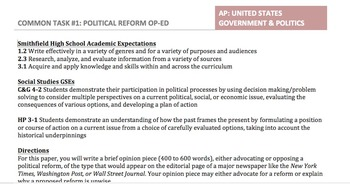 AP Government - Constitutional Reform Op-Ed Assignment