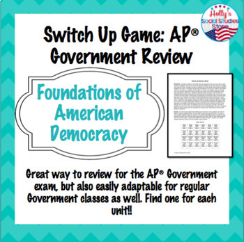 AP Government Constitutional Underpinnings Review: Switch-Up Game