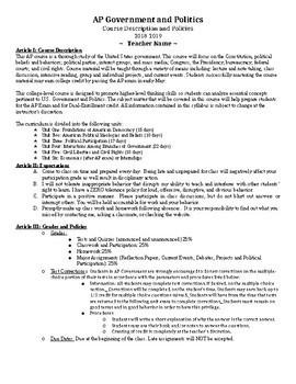 AP Government Course Syllabus