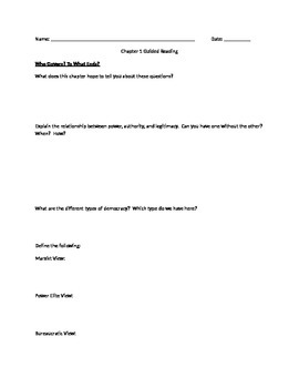 AP Government Guided Notes Chapter 1