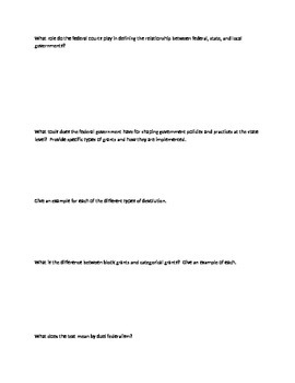 AP Government Guided Notes Chapter 3