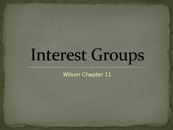 AP Government Interest Group Power Point