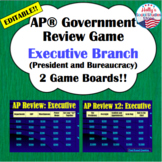 Executive Branch Review Game: AP® U.S. Government (editable)