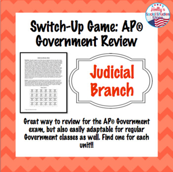 AP Government Judicial Branch Review: Switch-Up Game