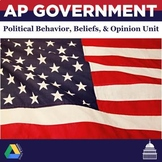 AP Government and Politics Political Behavior, Beliefs, and Opinion Unit