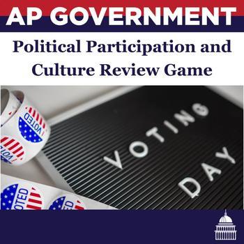 AP Government Political Culture, Public Opinion, Participation Review Game