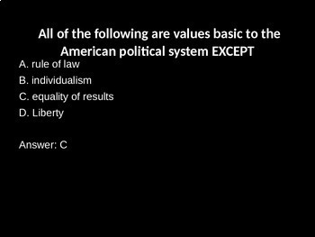 Political Culture and Participation Review Game