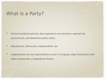 AP Government Political Parties PowerPoint