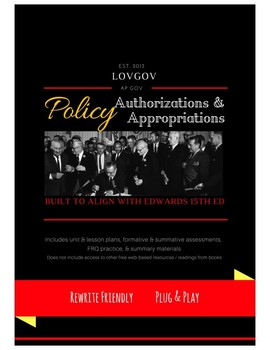 AP Government & Politics: Public Policy Unit