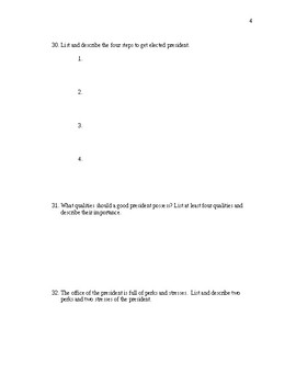 AP Government Presidents Worksheet