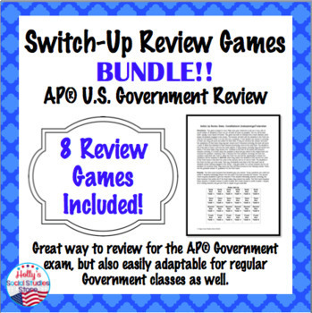 AP Government Review Bundle: Switch-Up Games