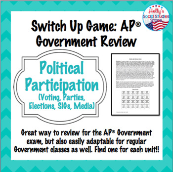 Elections, Interest Groups, and Media Switch Up Review Game: AP® Government