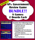 AP® Government Review Game Bundle