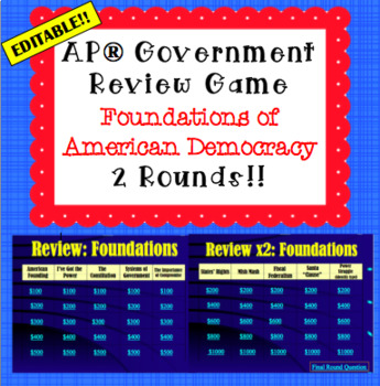 Constitutional Underpinnings Review Game (for use in AP* G