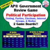 Political Participation Review Game (AP® U.S. Government)