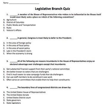 AP Government Practice Quizzes