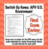 AP® Government Final Review: Switch Up Game