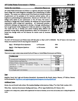 AP Government - Student Syllabus