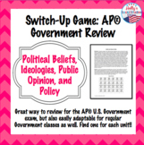 Political Participation, Parties, Public Opinion Switch Up Game (AP® Government)