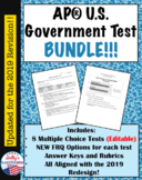AP® Government Exams Bundle- 8 Tests Total!! (UPDATED for 2019 Redesign)