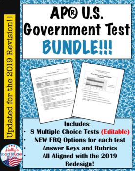 AP* Government Test Bundle- 8 Tests Total!!