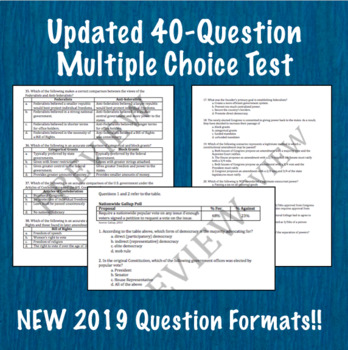 Foundations of American Democracy Test- AP® Government (UPDATED for 2019 Exam)