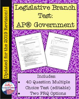 Legislative Branch Test (For AP® Government course)