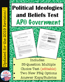 Political Participation, Parties, and Public Opinion Test (For AP® Gov course)