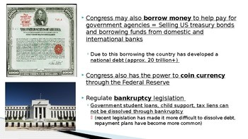 AP Government The Powers of Congress 11 Slides PPT