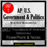 AP Government- UNIT 1 PowerPoint and Guided Notes (Updated Re-Design)