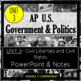 AP Government- UNIT 3 PowerPoint and Guided Notes (Updated Re-Design)