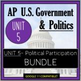 AP Government- UNIT 5 Bundle: PowerPoints, Assessments, Vocab, & More!