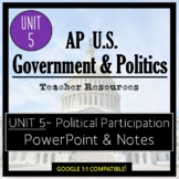 AP Government- UNIT 5 PowerPoint and Guided Notes (Updated Re-Design)