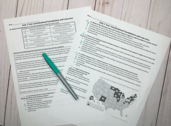 AP Government: Constitutional Underpinnings Test