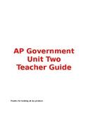 AP Government Unit Two Teacher Guide