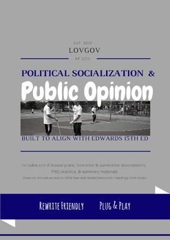 AP Government and Politics Political Socialization & Public Opinion Unit