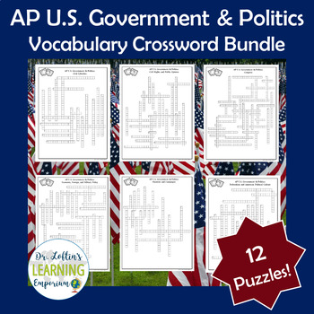 AP Government Vocabulary Crossword Puzzle Bundle